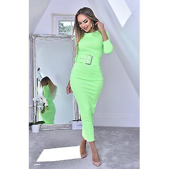 Eliana Black Midaxi Dress - Green