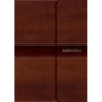 NVI Biblia Letra Grande Tamano Manual marron - simil piel con solapa