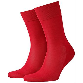 Burlington Cardiff Socks - Scarlet Red