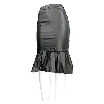 K Jordan Skirt Striped Pull On Flared White / Black