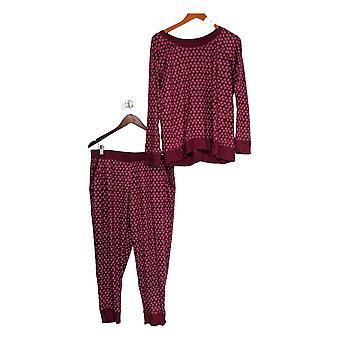 Carole Hochman Women's Petite Pajama Set Marshmallow Jersey Purple A311253