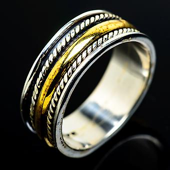 Meditation Spinner Ring Size 7 (925 Sterling Silver)  - Handmade Boho Vintage Jewelry RING8073