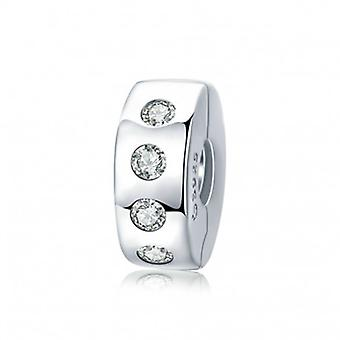 Sterling Silver Clip With Zirconia - 6532