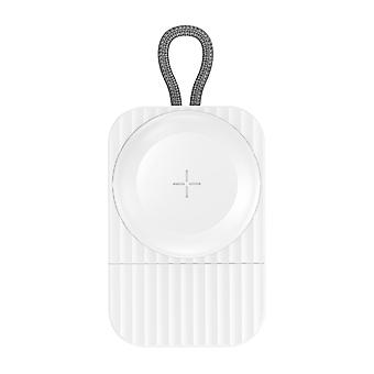 2.5A USB Charger for Apple Watch Safe Qi Wireless Charging- Rock, White