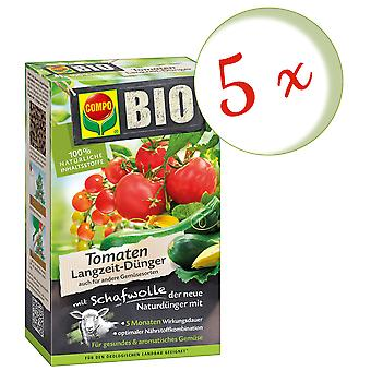 Sparset: 5 x COMPO BIO tomatoes Long-term fertilizer with sheep's wool, 750 g