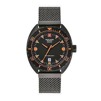 Swiss Alpine Military Men's Watch Analog Quartz 7066.1179SAM Stainless Steel