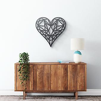 Arte de pared de metal - Corazón geométrico