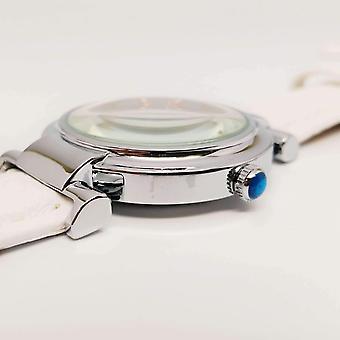 Sofisticato orologio da polso resistente all'acqua omega con fascia in pelle - 5 colori tra cui scegliere!