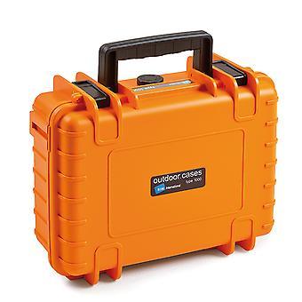 B&W Outdoor Case Typ 1000, Würfelschaum, Orange