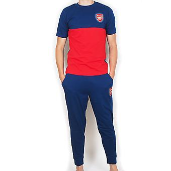 Arsenal FC Official Football Gift Mens Premium Long Pyjamas Set