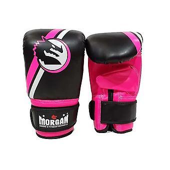 Morgan klassinen laukku käsitit vaaleanpunainen ja musta