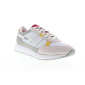 Gola Toronto  Mens White Mesh Lace Up Lifestyle Sneakers Shoes