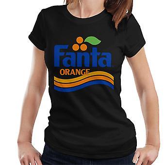 Fanta Orange 1980s Retro Wave Logo Women's T-Shirt