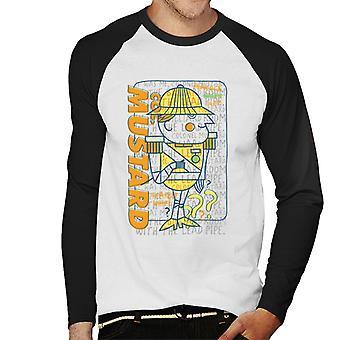 Hasbro Cluedo It Was Me Colonel Mustard Men's Baseball Long Sleeved T-Shirt
