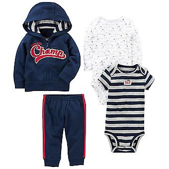 Simple Joys by Carter's Baby Boys' 4-Piece Little Jacket Set, Navy Champ, 12 ...