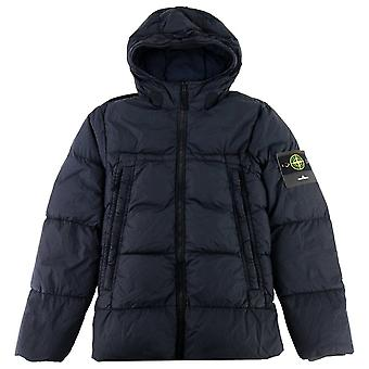 Stone Island Crinkle Reps Puffer Down Jacket Navy V0020
