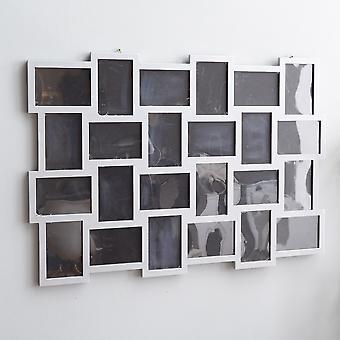 Rebecca Furniture Mosaic Photo Frames Multiple 24 Images Mdf Grey 61x92x1.2