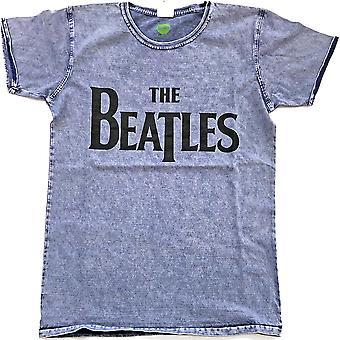 Blue The Beatles drop T logo officielle Tee T-shirt Herre Unisex