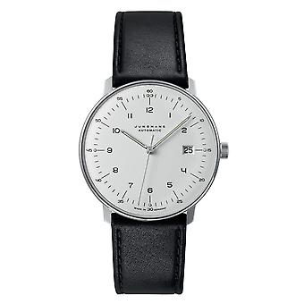 Junghans Max Bill Automatic 027/4700.02 Silver Dial Black Leather Strap Men's Watch