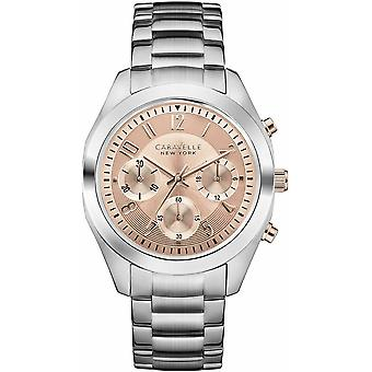 Caravelle Watch 45L143 - Plated Stainless Steel Ladies Quartz Chronograph