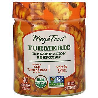 MegaFood, Turmeric, Inflammation Response, 40 Gummies