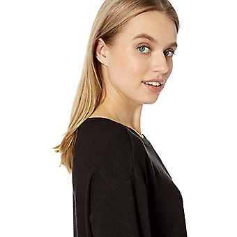 Marke - Tägliche Ritual Frauen's gemütliche stricken Bateau-Neck 3/4-Sleeve Tunika, schwarz, groß