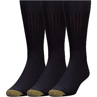 GOLD TOE Men's 3-Pack Canterbury Dress Socks