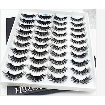 3d Soft Mink False Eyelashes -handmade Wispy Fluffy, Long Lashes Natural Eye
