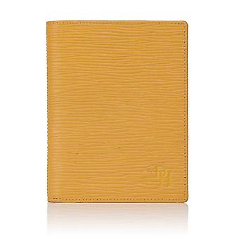 Straw Oak Grain Leather Jotter Wallet and Passport Holder