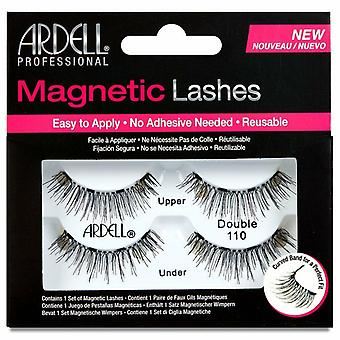 Ardell Tapered Tip False Magnetic Lashes - Double 110 Black - Reusable