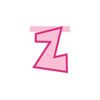 Linking Banner 20cm Pink Letter - Z Party Decoration