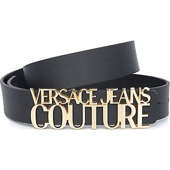 Versace Jeans Couture Text Logo Buckle Belt