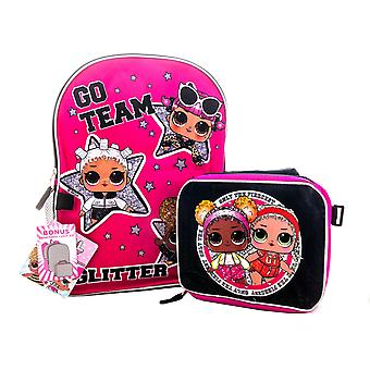 L.O.L Surprise! Backpack with Detachable Insulated Lunch Box , Go Team