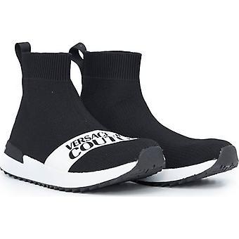 Versace Jeans Couture Footwear Logo de malha Botas de meia