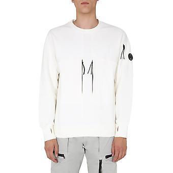 C.p. Unternehmen 09cmss007a005086w103 Männer's weiße Baumwolle Sweatshirt