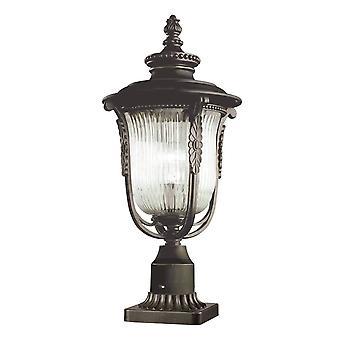 1 Light Outdoor Pedestal Light Rubbed Bronze IP44, E27