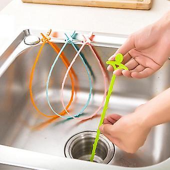 Plastic Cleaning Hook, Kitchen Bathroom Sink Pipe Drain Cleaner Pipeline Hair