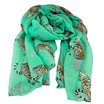 Ties Planet Tiger Animal Print Mint Lightweight Women-apos;s Châle Scarf