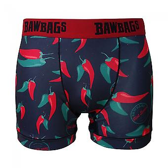 Bawbags Cool De Sacs Spicy Boxer Shorts - Red