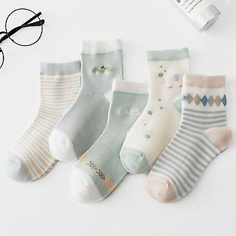 5pairs/lot Unicorn Mesh Thin Cotton Newborn Boy / Girls Socks