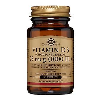 سولغار فيتامين د3 (Cholecalciferol)، 1000 وحدة دولية، 90 علامات التبويب
