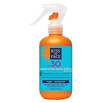 Kiss My Face Natural Mineral Spray Lotion SPF 30, 8 fl oz