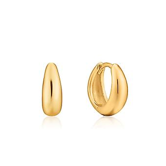 Ania Haie Luxe Minimalism Shiny Gold Luxe Huggie Hoop Boucles d'oreilles E024-03G