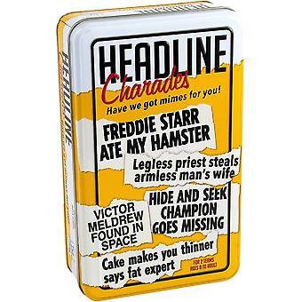 Headline Charades Tin Trivia Game