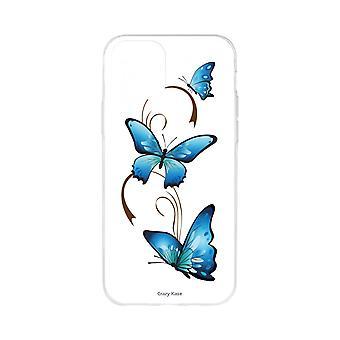Kadłub dla iPhone 11 Pro Miękki wzór motyla na arabeski na białym tle