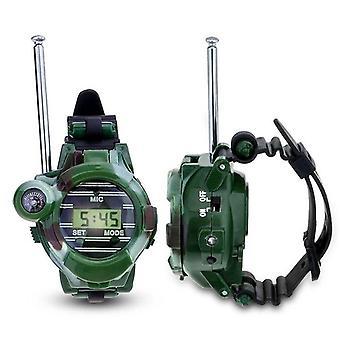 Walkie Talkies kellot lelut - 7 In 1 Naamiointi 2 Way Radios Mini Walkie &clock