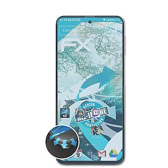atFoliX 3x Schutzfolie kompatibel mit Samsung Galaxy M31s Folie klar&flexibel