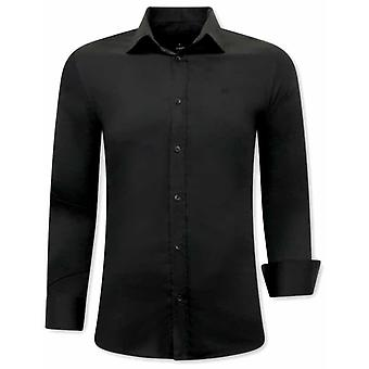 Shirts - Slim Fit - Black