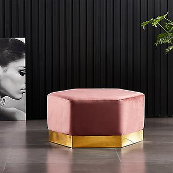 Lucci Xl Lux Pouffe Pink