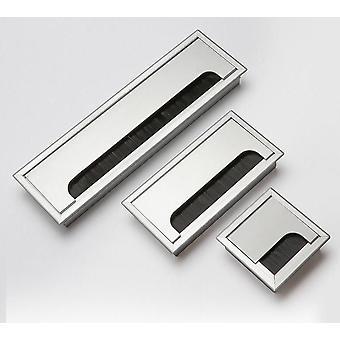 Cable de alambre rectangular de aluminio Escritorio Grommet